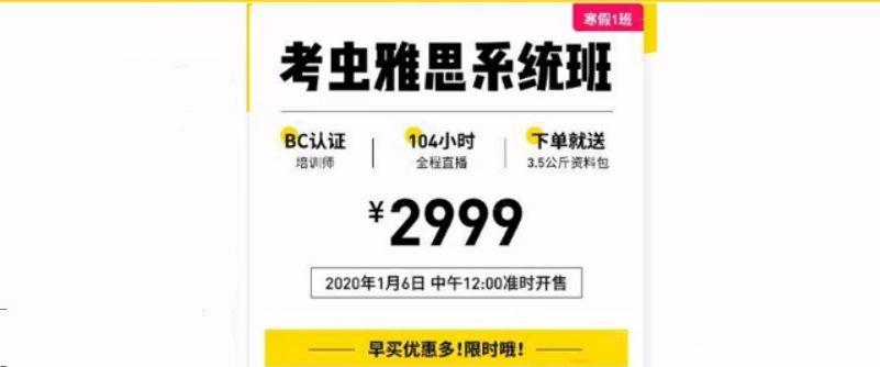 2020考虫雅思寒假系统班,A类基础+拔高网课下载